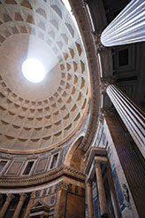 the roman pantheoon dome is pumice concrete
